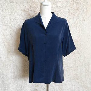 Vintage Short Sleeve Silk Blouse